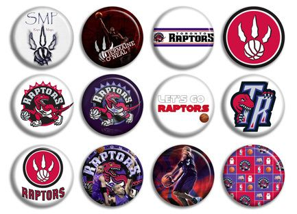 Raptors Basketball NBA Buttons Pins Badges New Collection