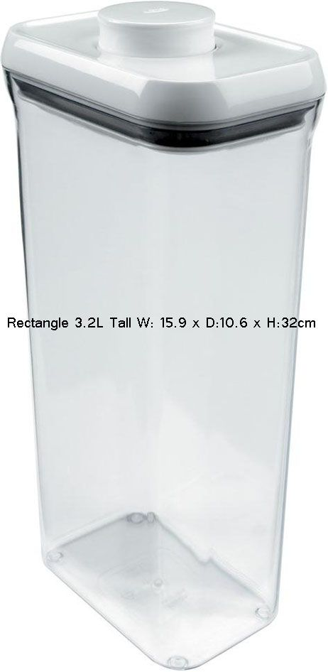 OXO Good Grips Kitchen Food Bathroom Storage Box Pop Container