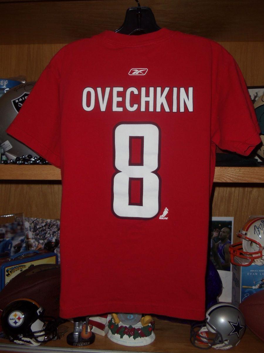 Alexander Ovechkin Washington Capitols Vtg Youth Large Reebok Shirt