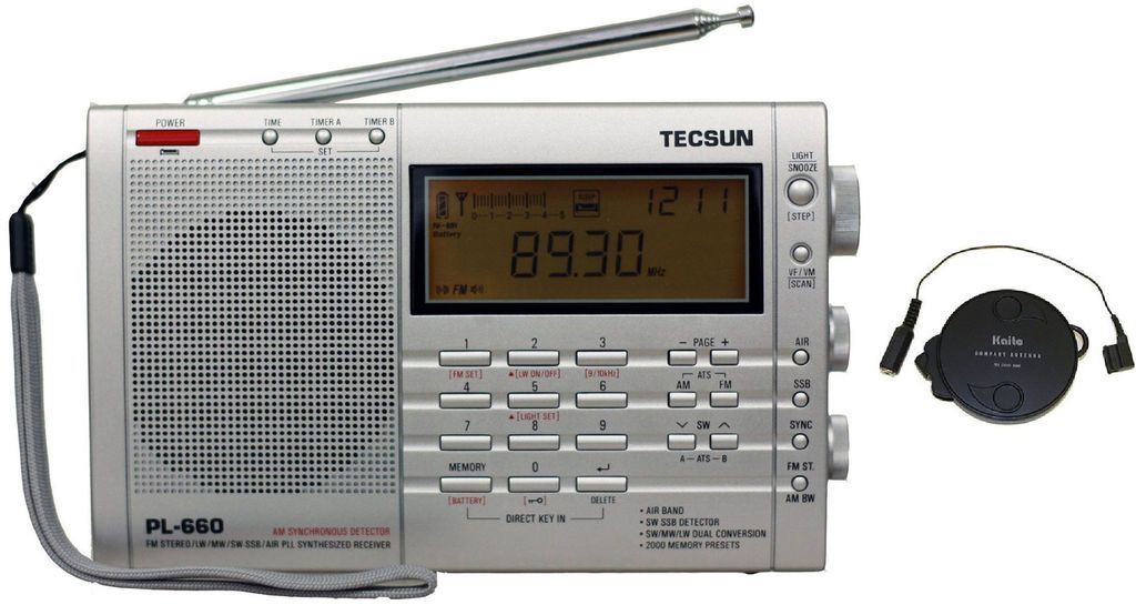 Tecsun PL660 AM FM Shortwave Air SSB Synchronous Radio + T1 Antenna