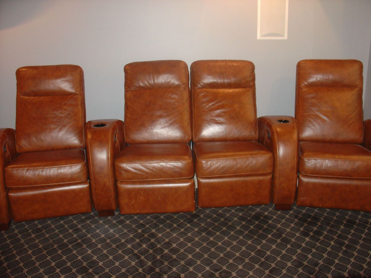 Leather Full Power Home Theatre Chair Unit