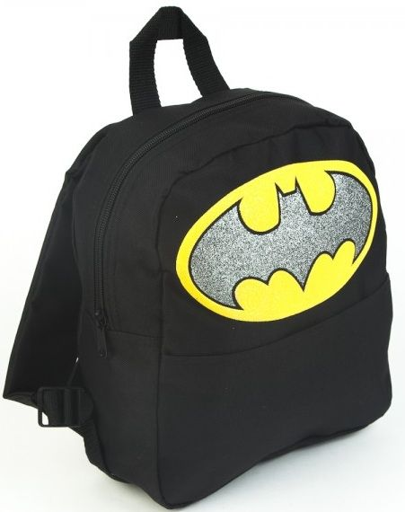 Comic Book Movie Superhero Boys Black Mini Backpack Bookbag