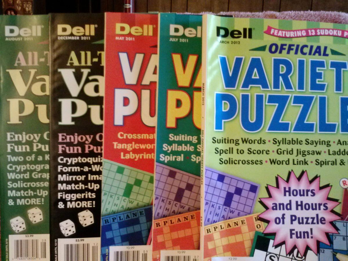 Dell Variety Puzzle Books  New Back Issues  Word Search Sudoku Fill