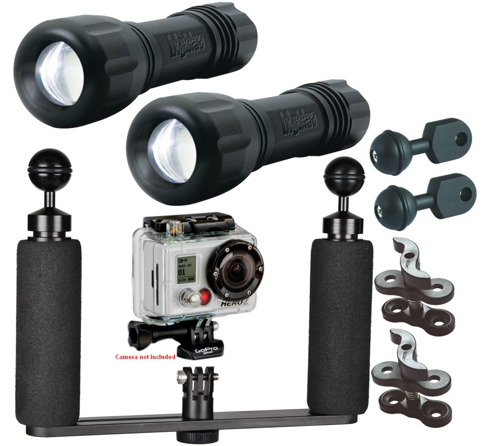 Bigblue Underwater LED Lighting System Kit for HD Action Video Cameras