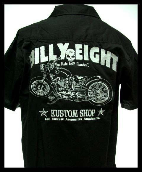 Billy Eight Biker Motorcycle West Coast Chopper Bowling Embroidery