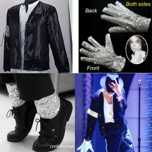 Child Michael Jackson MJ Billie Jean Jacket Glove Socks