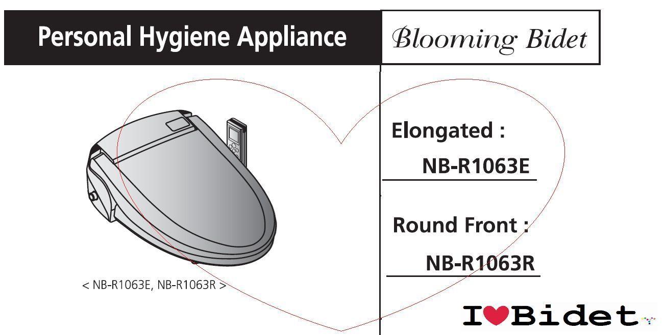 Free 4FILTERS 2TRAVEL Bidets Blooming NB R1063 Bidet Toilet Seat LED