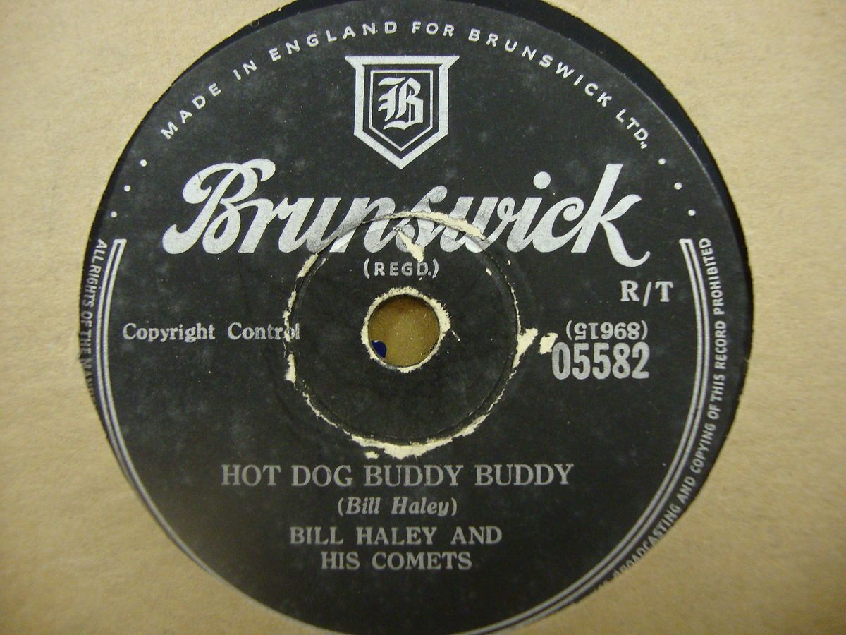 Bill Haley His Comets Hot Dog Buddy Buddy 78 RPM Record VG Condition