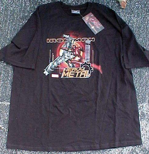 Mens Marvel Iron Man Heavy Metal T Shirt Sz XXL