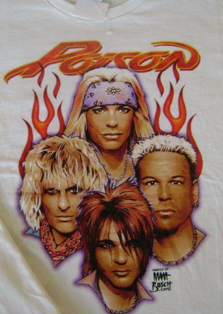 Poison Bret Michaels Old School Rock N Roll T Shirt XL