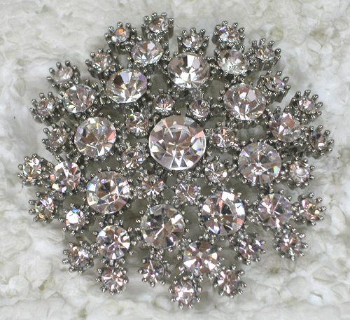 Clear Rhinestone Crystal Pin Brooch for Wedding C653