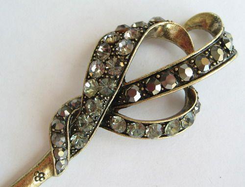 Vary Colors Swarovski Crystal Bronze Hair Stick Pin Pick 390