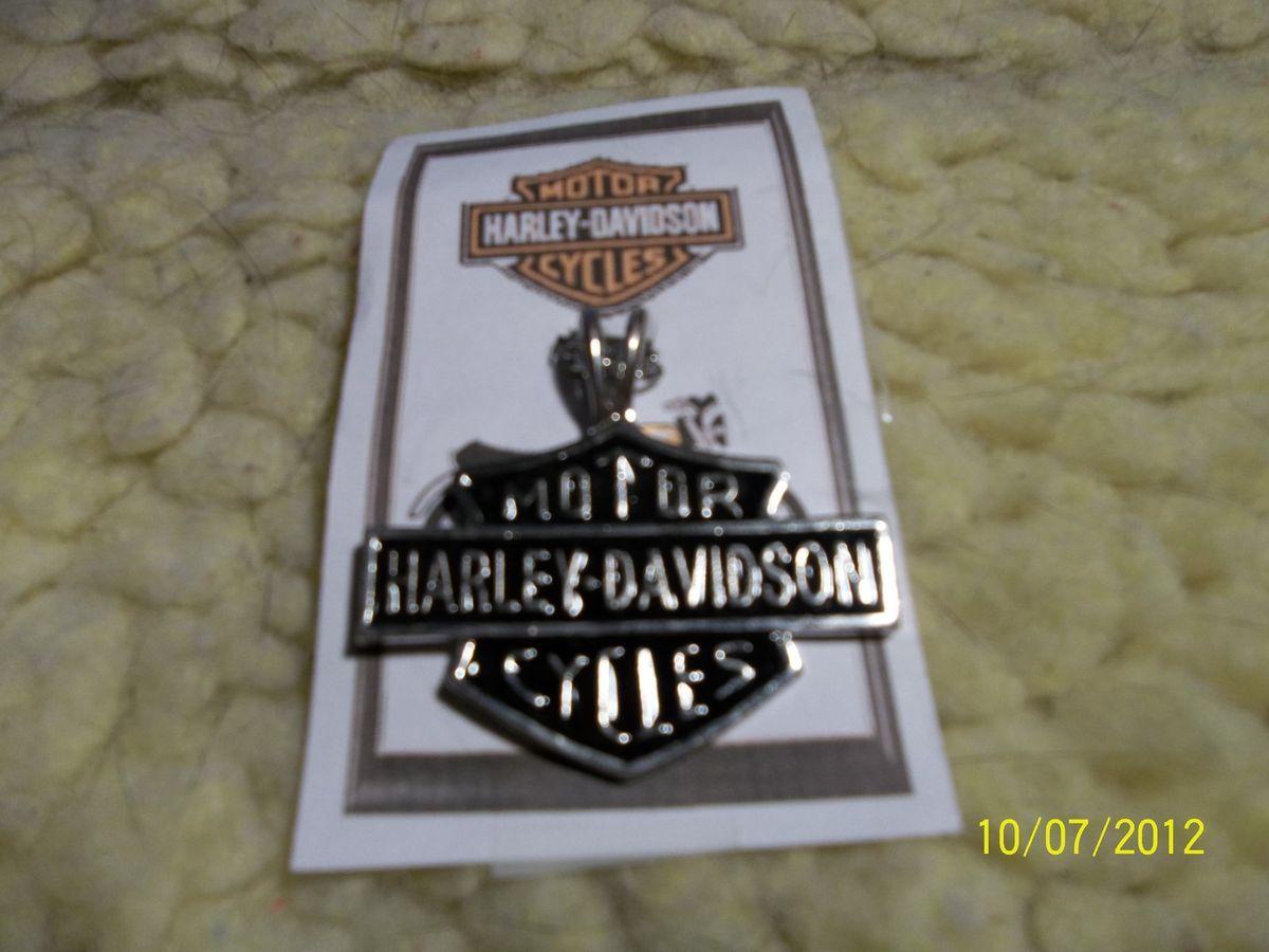 Harley Davidson Bar and Shield Necklace w Chain Very Nice