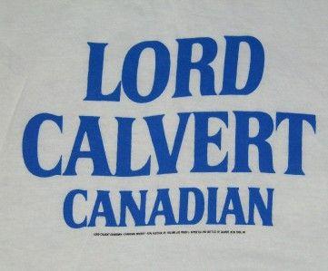 Vtg Lord Calvert Canadian T Shirt Retro Punk Emo 80s