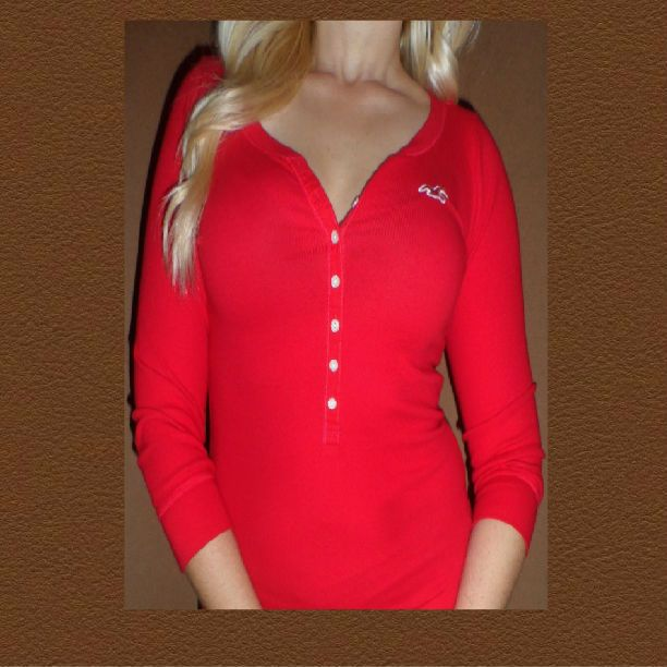 by Abercrombie Womens T Shirt Top New Red Calabasas Size Medium