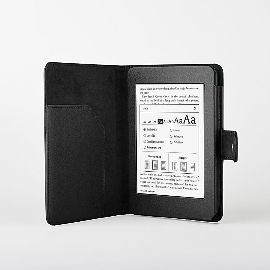 Black PU Leather Case Cover for Kindle Paperwhite Wi Fi 3G Auto Wake