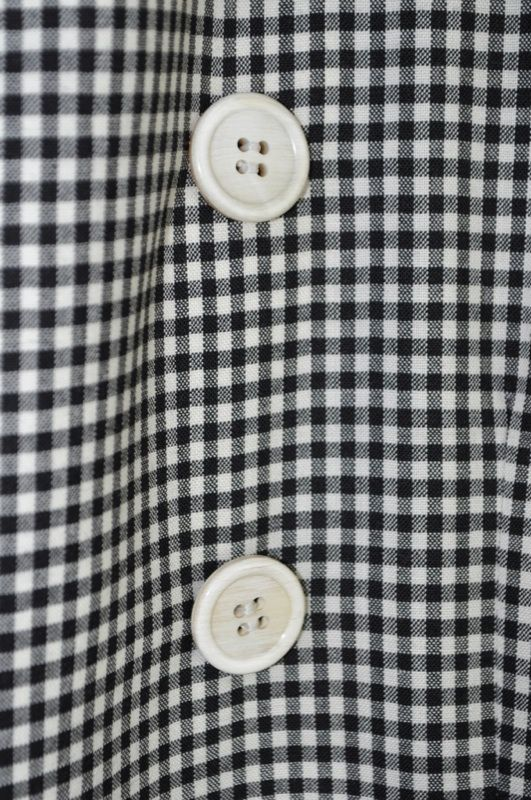 Comme Des Garcons Homme Plus Pi J045 051 Wool Gingham Peacoat Coat