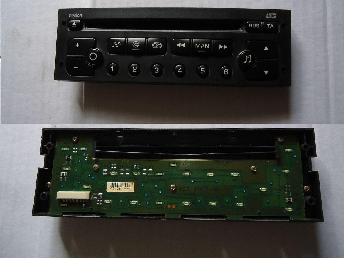 Citroen C2 C3 C8 Peugeot 206 307 807 Clarion Stereo CD Player Fascia