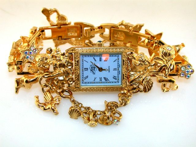 kirks folly costume jewelry angel fairy watch