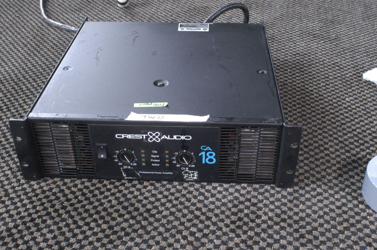 Crest Audio CA 18 Power amplifier Amp 5000w CA18 used from installed