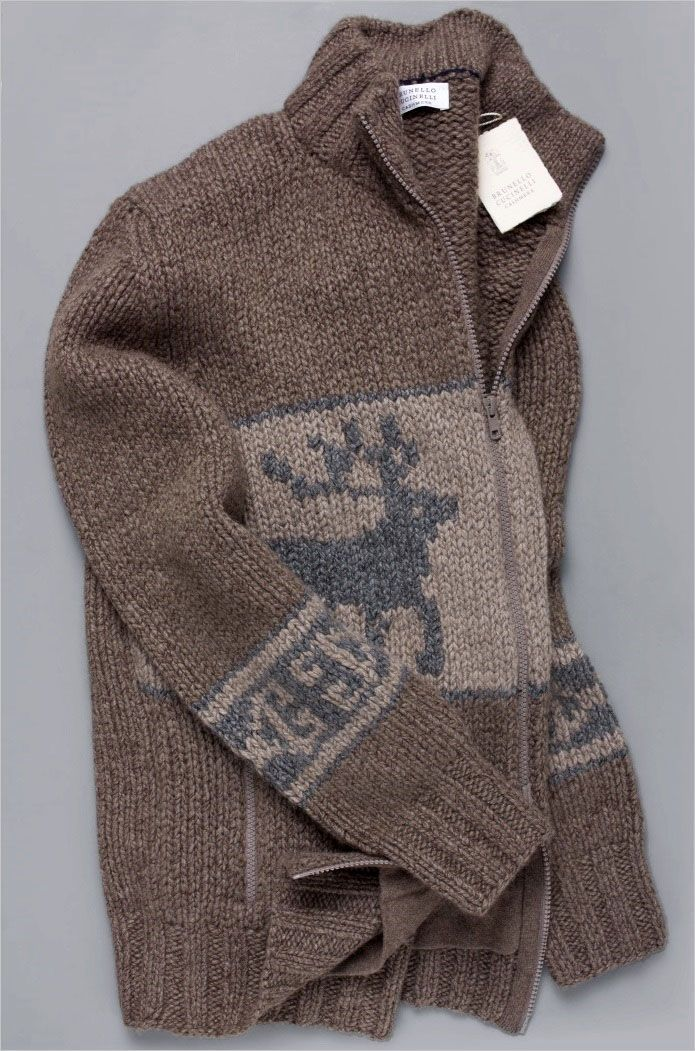 2450 Brunello Cucinelli Sweater 100 Cashmere Plush 12 Ply Full Zip M