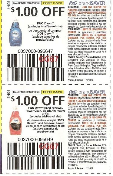 graphic regarding Printable Dawn Coupons named 40 Coupon codes 20 1 00 2 Sunrise Dish Detergent Cleaning soap 20 Sunrise Hand