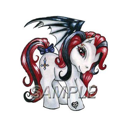 My Little Pony Gothic T Shirt Iron on Transfer 2 Design