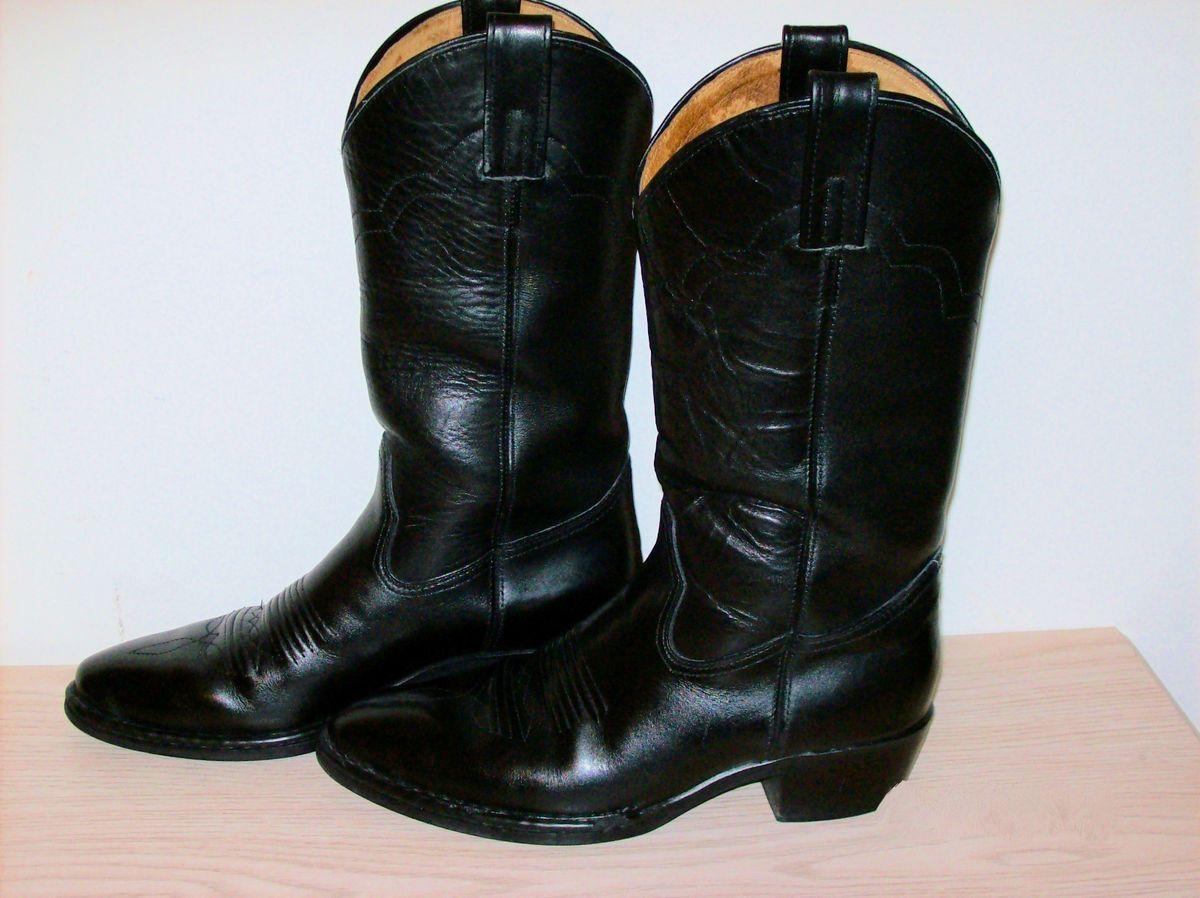 Double H Brand HH Mens Western Boots Cowboy Boots Black Size 8D Clean