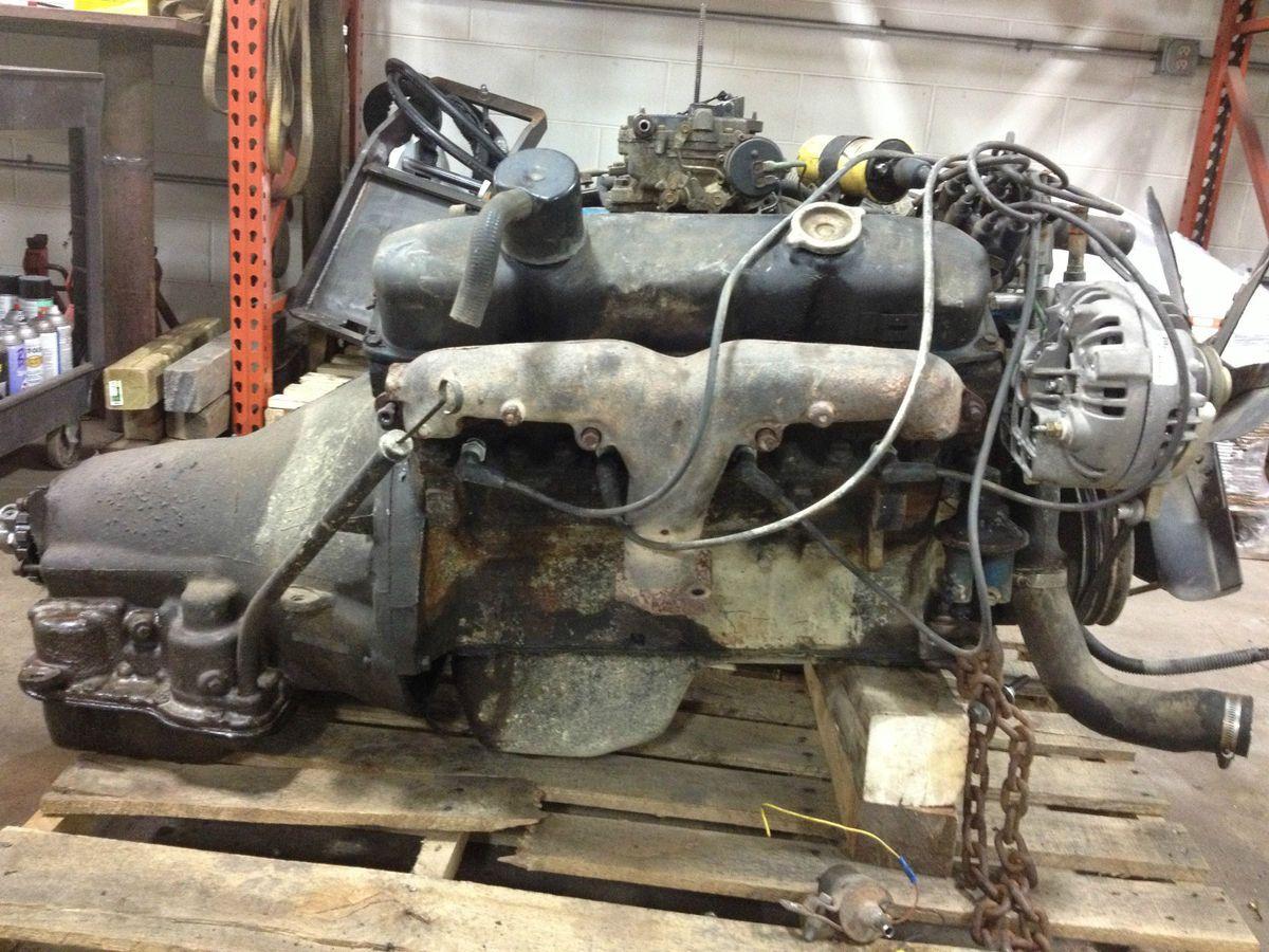 1978 Dodge 440 Mopar engine with transmission and transfer case