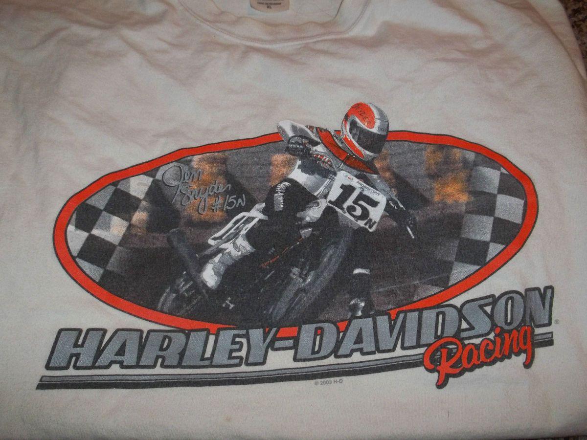 Mens Harley Davidson T Shirt XL White