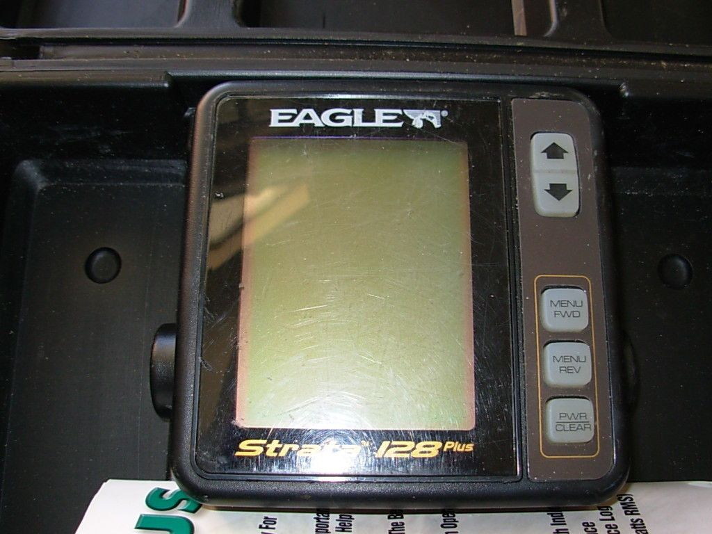 Eagle Strata 128 Marine Depth Fish Finder with the Travel Case
