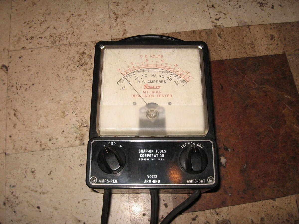 Vintage Snap on Tool MT 415 Tach Dwell Meter