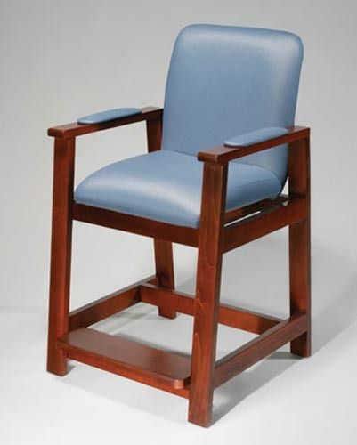 Wood High Hip Chair Office Doctor Stool Seat Exam Chair