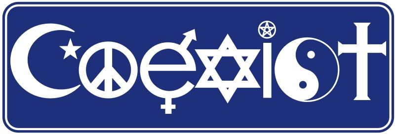 9000 Coexist Equality Diversity Bumper Sticker Decal 3x9