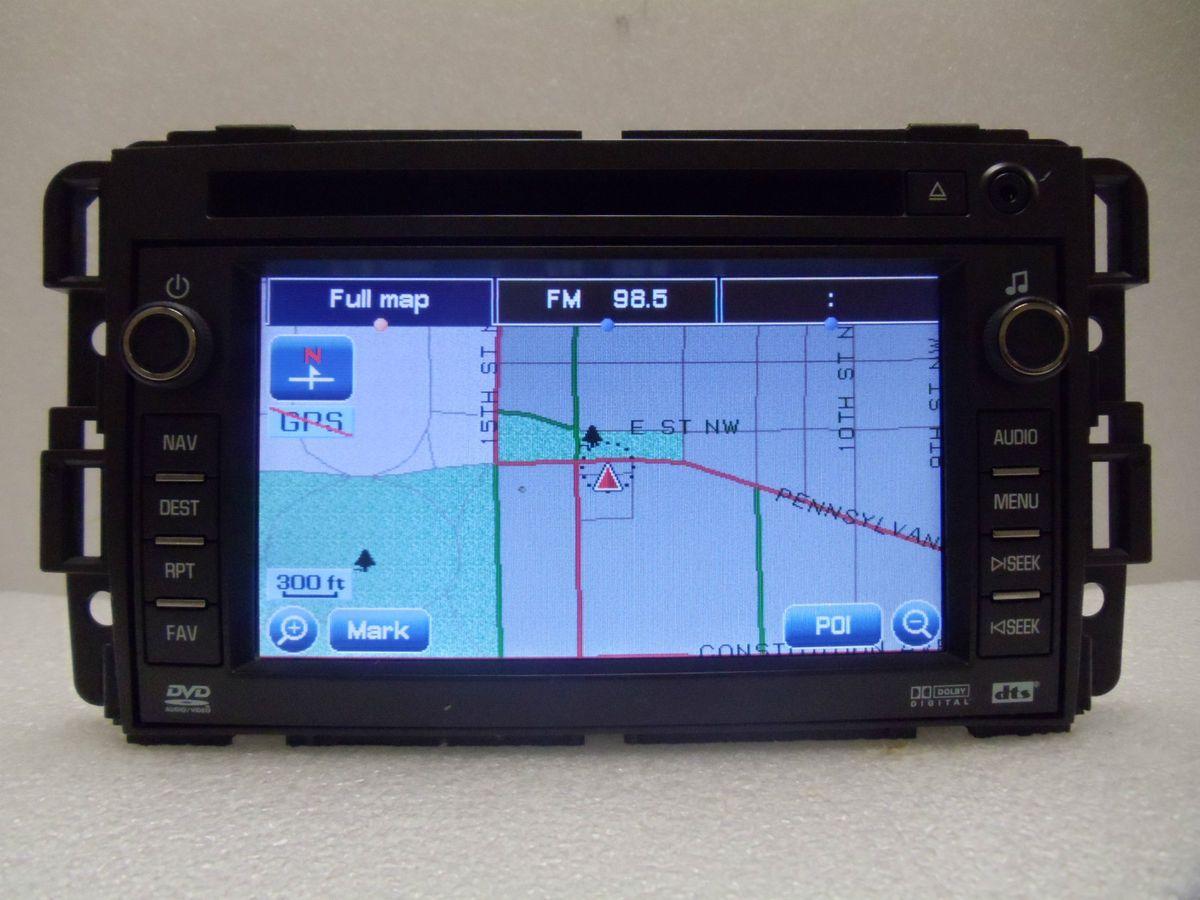 07 08 09 GMC Chevy Silverado Yukon Tahoe Sierra Navigation GPS DVD