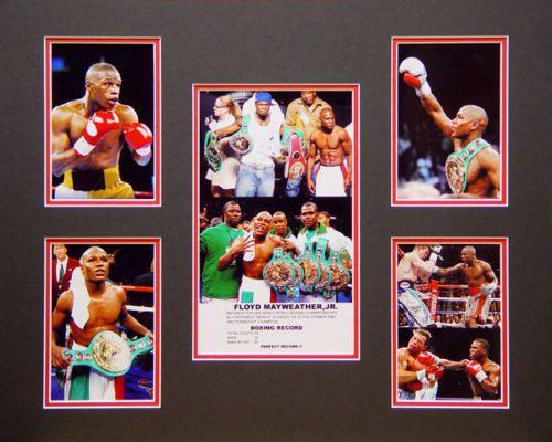 Floyd MAYWEATHER Jr Boxing Memorabilia Framed