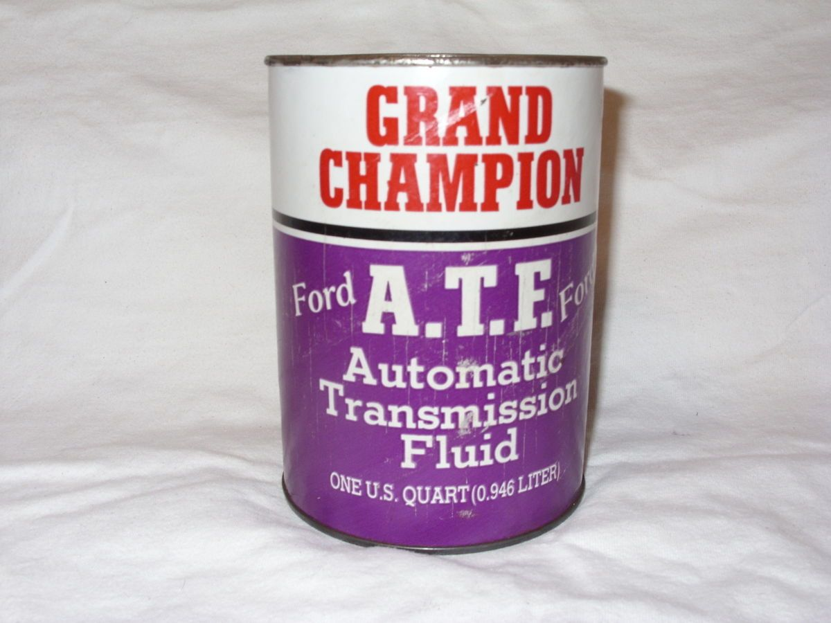 Vintage GRAND CHAMPION Ford Automatic Transmission Fluid Can