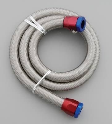 Spectre 29490 Fuel Line Braided Stainless Steel 3/8 Dia 3 ft. Length