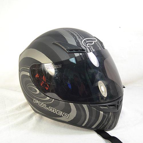 Fulmer Maelstrom Full Face Motorcycle Helmet Black Silver Medium