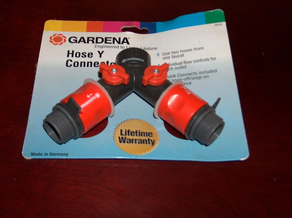 Gardena 36938 Garden Hose Y Valve, New. Made in Germany. Lifetime