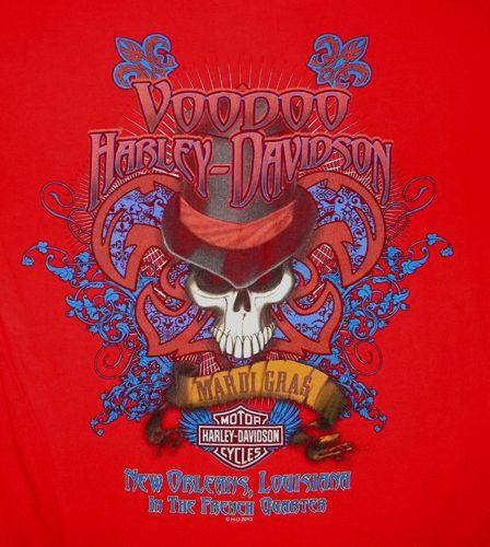 Harley Davidson Voodoo T Shirt Biker Motorcycle New Orleans French