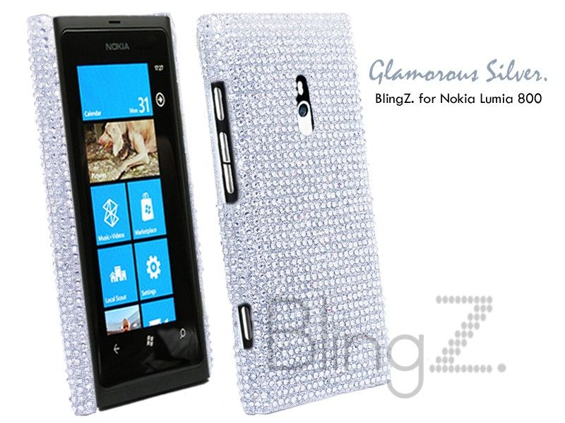 Diamond Bling Bling Diamond Gem Case Cover Nokia Lumia 800