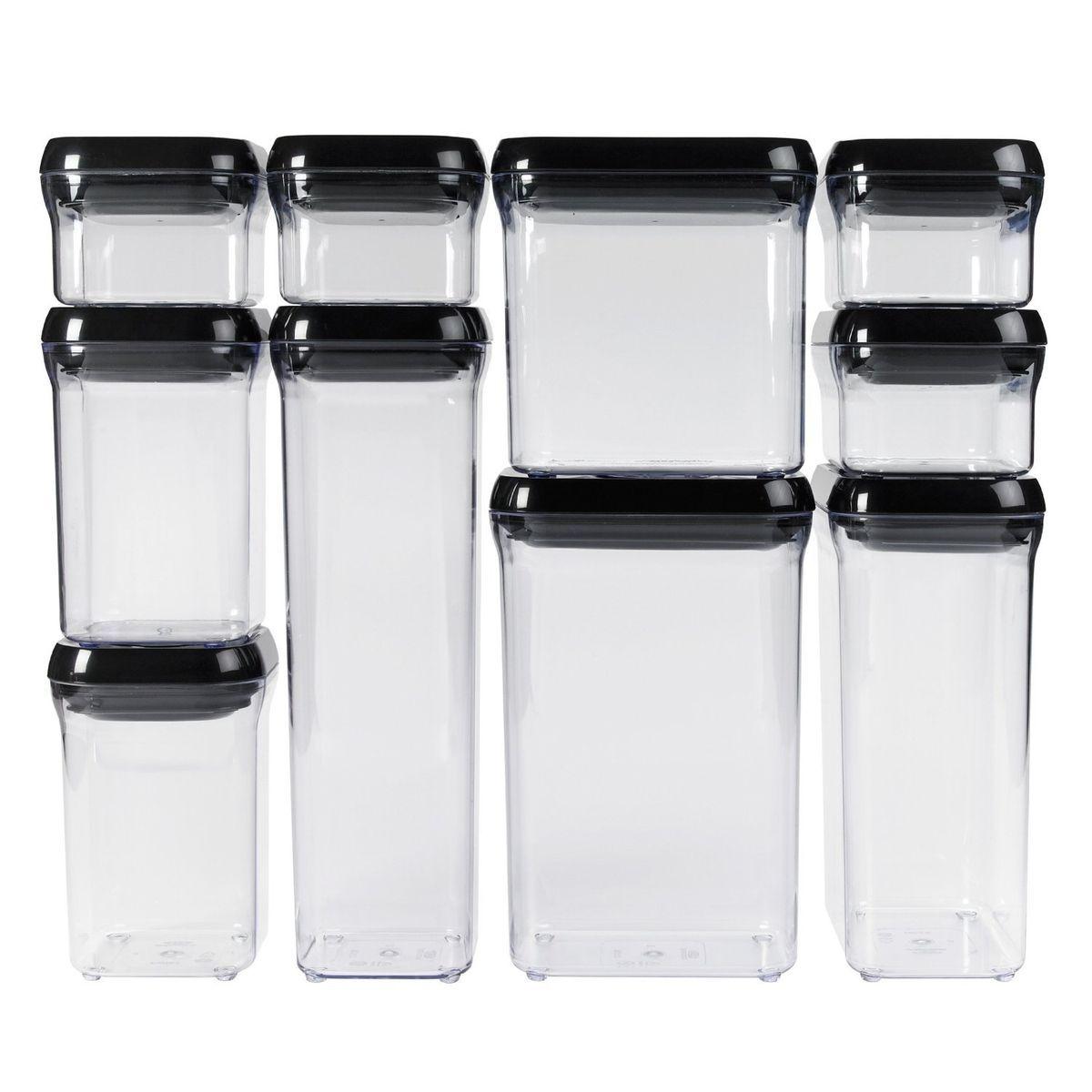 OXO Good Grips 10 Piece Pop Black Food Storage Container Set
