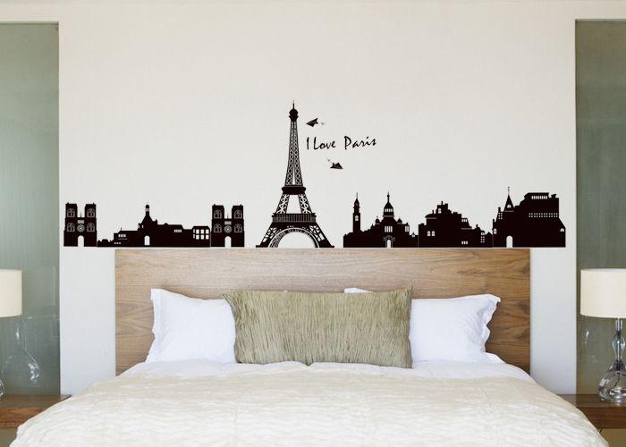 Grand PARIS EIFFEL TOWER wall Stickers Mural Room Decor Art Vinyl