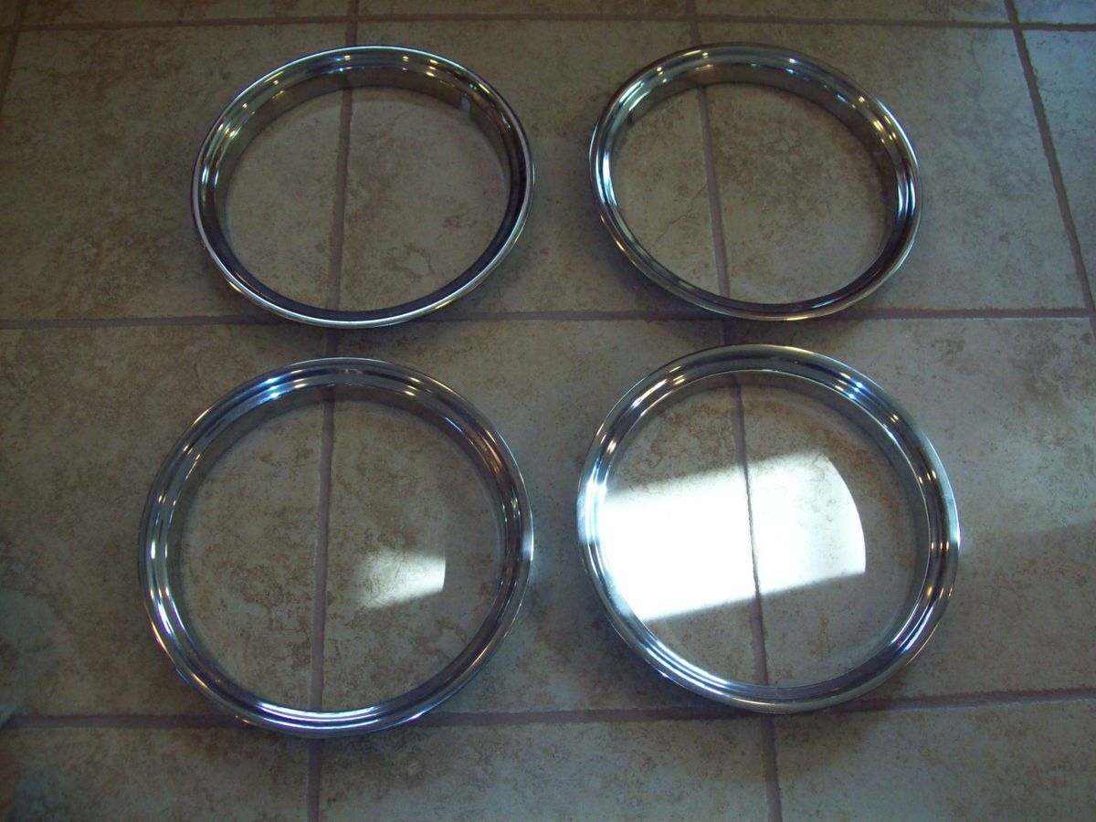New GM 15 Chevy GMC Truck Rally Polished Stainless Steel Wheel Trim