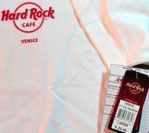 Hard Rock Cafe Venice 2011 White City Tee Shirt Large Pre Production