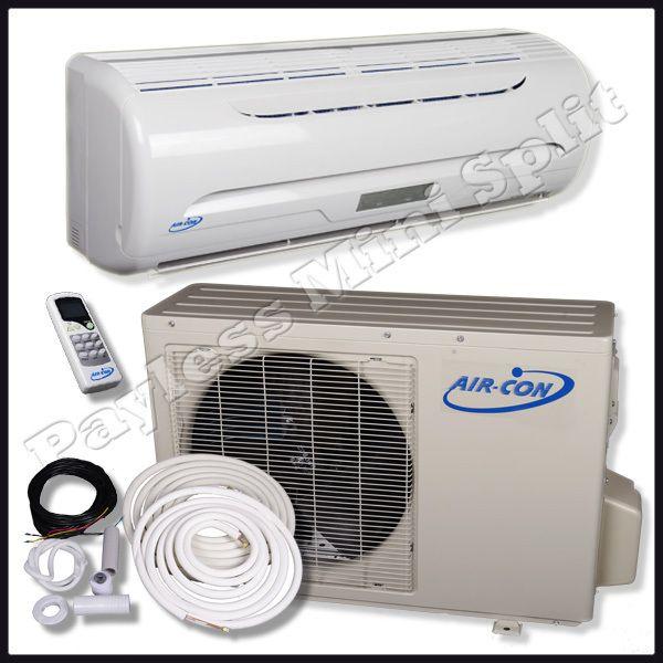 Ductless Mini Split Air Conditioner Heat Pump Air Con 9 000 BTU AC