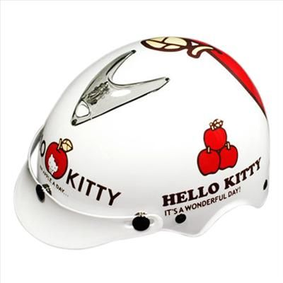 Get this Hello Kitty half helmet for riding in style, safety & fun