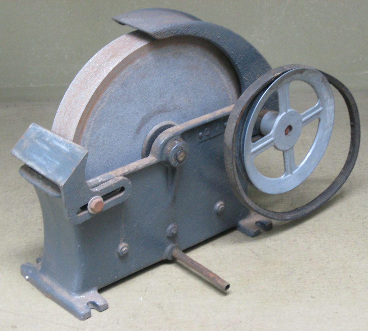 Grinder Vitrified Grinding Wheel Bench Mount Belt Driven Grindstone
