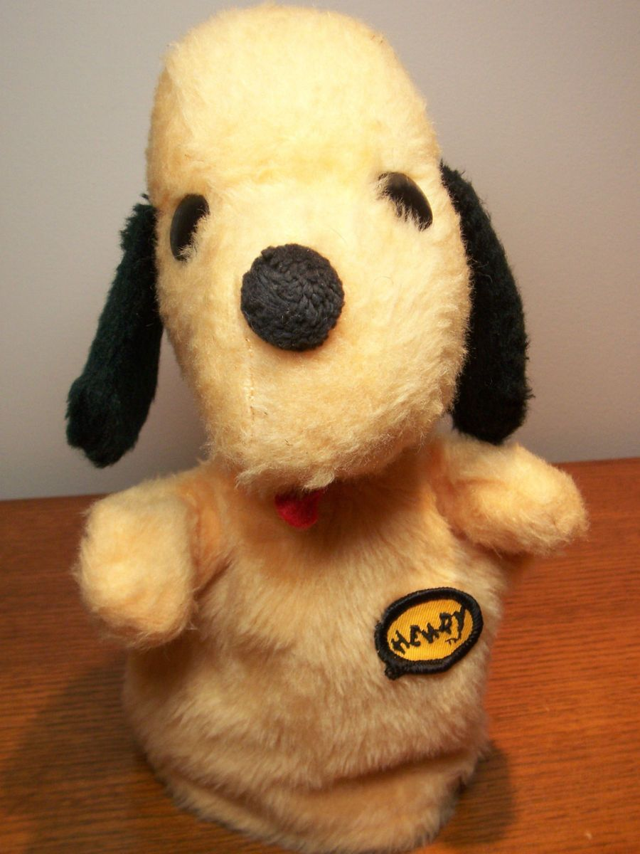 10 Vintage Henry The Dog Animal Fair Stuffed Plush Puppet CUTE